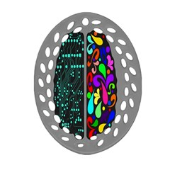 Emotional Rational Brain Ornament (Oval Filigree)