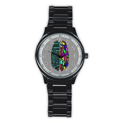 Emotional Rational Brain Stainless Steel Round Watch