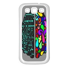 Emotional Rational Brain Samsung Galaxy S3 Back Case (White)