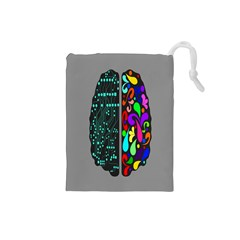 Emotional Rational Brain Drawstring Pouches (Small)