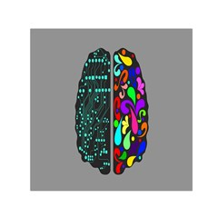Emotional Rational Brain Small Satin Scarf (Square)