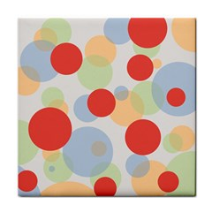 Contrast Analogous Colour Circle Red Green Orange Tile Coasters
