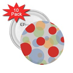 Contrast Analogous Colour Circle Red Green Orange 2.25  Buttons (10 pack)