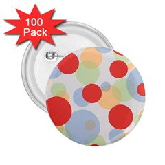 Contrast Analogous Colour Circle Red Green Orange 2.25  Buttons (100 pack)