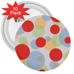 Contrast Analogous Colour Circle Red Green Orange 3  Buttons (10 pack)