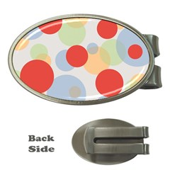 Contrast Analogous Colour Circle Red Green Orange Money Clips (Oval)