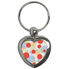 Contrast Analogous Colour Circle Red Green Orange Key Chains (Heart)