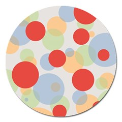 Contrast Analogous Colour Circle Red Green Orange Magnet 5  (round)