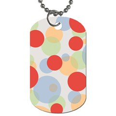 Contrast Analogous Colour Circle Red Green Orange Dog Tag (Two Sides)