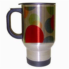 Contrast Analogous Colour Circle Red Green Orange Travel Mug (Silver Gray)