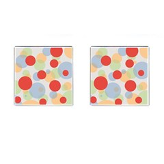Contrast Analogous Colour Circle Red Green Orange Cufflinks (square)