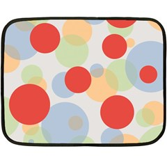 Contrast Analogous Colour Circle Red Green Orange Double Sided Fleece Blanket (Mini)
