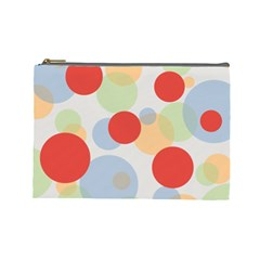 Contrast Analogous Colour Circle Red Green Orange Cosmetic Bag (Large)