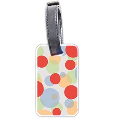 Contrast Analogous Colour Circle Red Green Orange Luggage Tags (One Side)