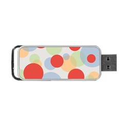 Contrast Analogous Colour Circle Red Green Orange Portable USB Flash (One Side)