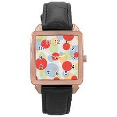 Contrast Analogous Colour Circle Red Green Orange Rose Gold Leather Watch