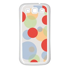 Contrast Analogous Colour Circle Red Green Orange Samsung Galaxy S3 Back Case (White)