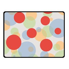 Contrast Analogous Colour Circle Red Green Orange Double Sided Fleece Blanket (Small)