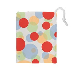 Contrast Analogous Colour Circle Red Green Orange Drawstring Pouches (Large)