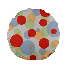 Contrast Analogous Colour Circle Red Green Orange Standard 15  Premium Flano Round Cushions