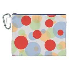 Contrast Analogous Colour Circle Red Green Orange Canvas Cosmetic Bag (XXL)