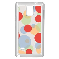 Contrast Analogous Colour Circle Red Green Orange Samsung Galaxy Note 4 Case (White)