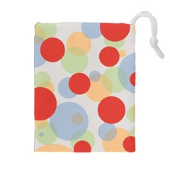 Contrast Analogous Colour Circle Red Green Orange Drawstring Pouches (Extra Large)