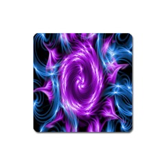 Colors Light Blue Purple Hole Space Galaxy Square Magnet
