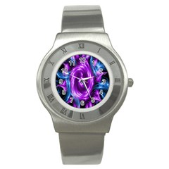 Colors Light Blue Purple Hole Space Galaxy Stainless Steel Watch