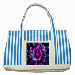 Colors Light Blue Purple Hole Space Galaxy Striped Blue Tote Bag