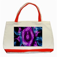 Colors Light Blue Purple Hole Space Galaxy Classic Tote Bag (red)