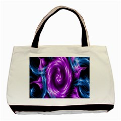 Colors Light Blue Purple Hole Space Galaxy Basic Tote Bag (Two Sides)