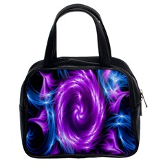 Colors Light Blue Purple Hole Space Galaxy Classic Handbags (2 Sides)