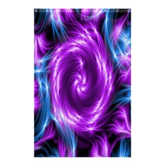 Colors Light Blue Purple Hole Space Galaxy Shower Curtain 48  x 72  (Small)