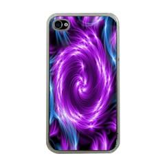 Colors Light Blue Purple Hole Space Galaxy Apple iPhone 4 Case (Clear)