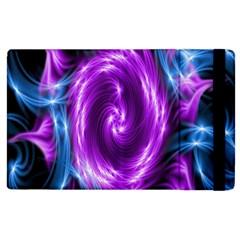Colors Light Blue Purple Hole Space Galaxy Apple iPad 2 Flip Case