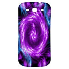 Colors Light Blue Purple Hole Space Galaxy Samsung Galaxy S3 S III Classic Hardshell Back Case