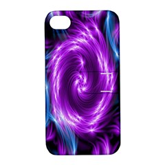 Colors Light Blue Purple Hole Space Galaxy Apple iPhone 4/4S Hardshell Case with Stand