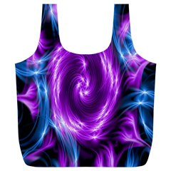 Colors Light Blue Purple Hole Space Galaxy Full Print Recycle Bags (L)
