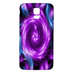 Colors Light Blue Purple Hole Space Galaxy Samsung Galaxy S5 Back Case (White)