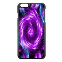 Colors Light Blue Purple Hole Space Galaxy Apple iPhone 6 Plus/6S Plus Black Enamel Case
