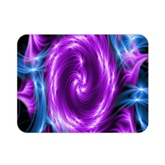 Colors Light Blue Purple Hole Space Galaxy Double Sided Flano Blanket (Mini)