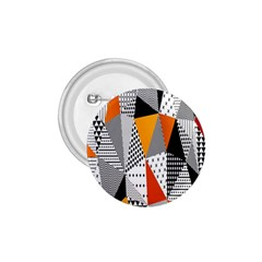 Contrast Hero Triangle Plaid Circle Wave Chevron Orange White Black Line 1.75  Buttons