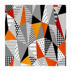 Contrast Hero Triangle Plaid Circle Wave Chevron Orange White Black Line Medium Glasses Cloth