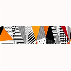 Contrast Hero Triangle Plaid Circle Wave Chevron Orange White Black Line Large Bar Mats