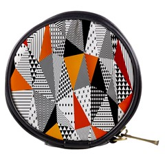 Contrast Hero Triangle Plaid Circle Wave Chevron Orange White Black Line Mini Makeup Bags