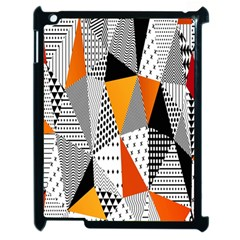 Contrast Hero Triangle Plaid Circle Wave Chevron Orange White Black Line Apple iPad 2 Case (Black)