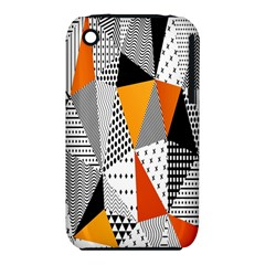 Contrast Hero Triangle Plaid Circle Wave Chevron Orange White Black Line iPhone 3S/3GS