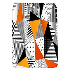 Contrast Hero Triangle Plaid Circle Wave Chevron Orange White Black Line Flap Covers (S)