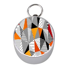Contrast Hero Triangle Plaid Circle Wave Chevron Orange White Black Line Mini Silver Compasses